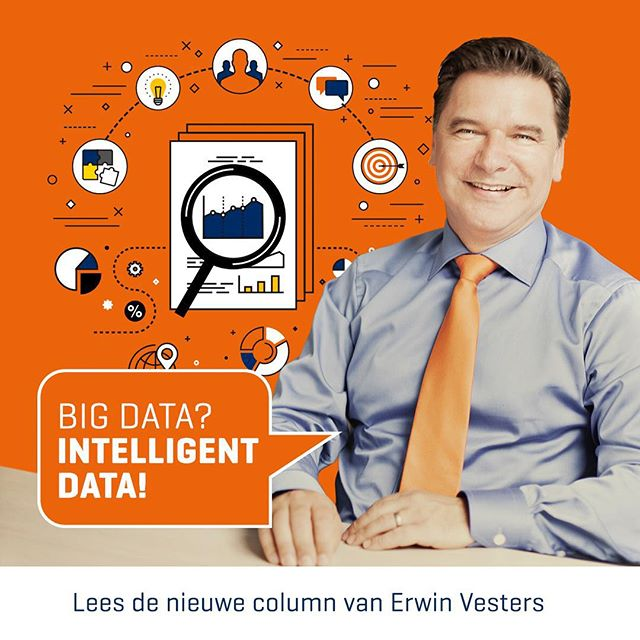Big data een bedreiging of een kans? Lees nu de nieuwe column van Erwin Vesters! Link in bio. #bigdata #intelligentdata #businessintelligence #column